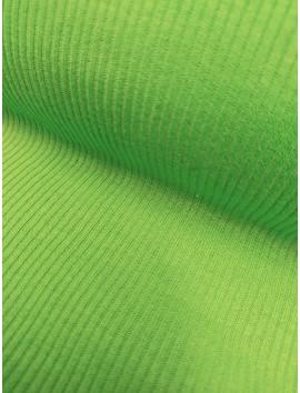 Punto de canalé verde