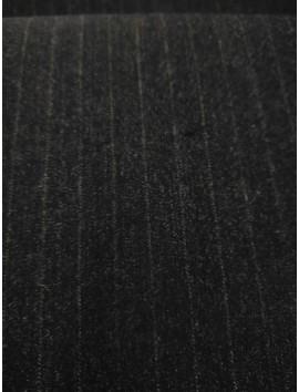 Tela de sastre lana raya diplomática gris marengo