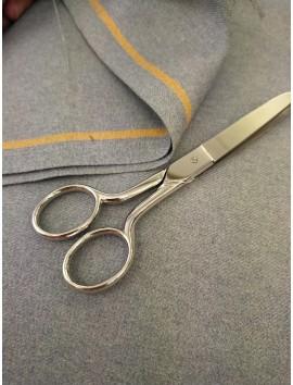 Tela de sastre, sarga de lana gris