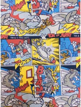 Tela de algodón Tom y Jerry comic