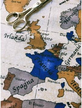 Tela de lonetamapa mundi Italiano