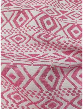Tweed grecas fucsia