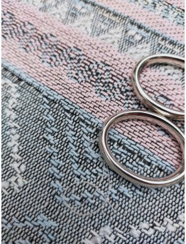 Tela Tweed rosa y gris