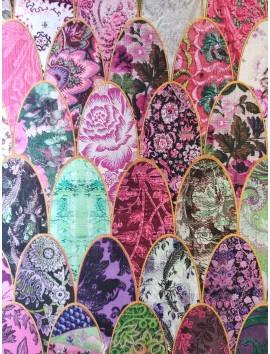 Mikado estampado ovalos florales