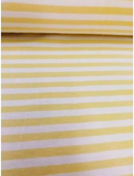 Punto con rayas amarillas y blancas