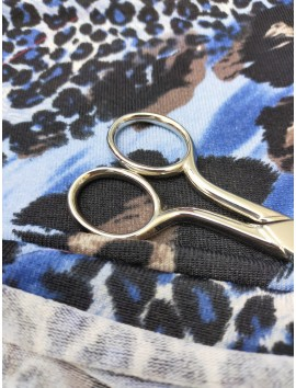 Tela de Punto jersey animal print azul