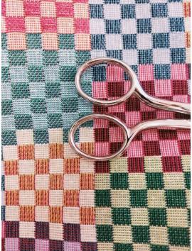 Tela tapiz Gobelino damero de colores