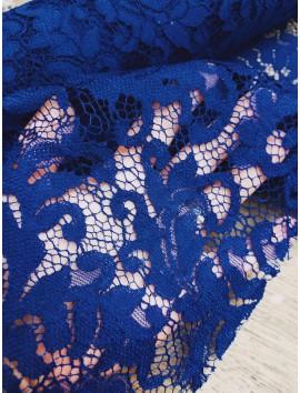 Tela de Encaje ramas azulón