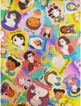 Tela de algodón mujeres en la historia