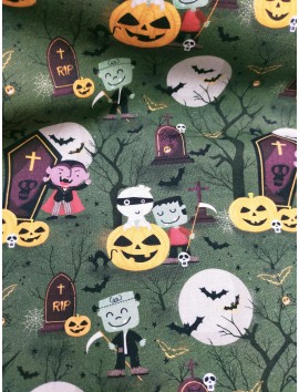 Tela de algodón halloween