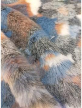 Pelo ecológico azules y grises